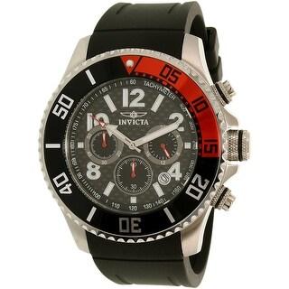 Invicta Men's Pro Diver 13727 Black Rubber Quartz Diving Watch