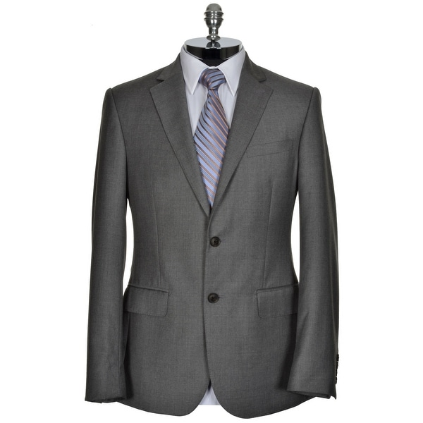 HARDY AMIES LONDON Wool Sportcoat 40 Regular 40R Light Grey Two Buttons $795