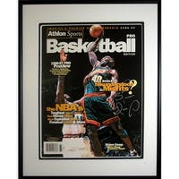 Shawn Kemp signed Seattle Supersonics 199697 Athlon Cover Framed LTD Upper Deck Hologram