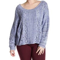 Melrose And Market Women's Plus Open Knit Sweater