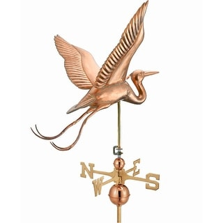 "34"" Grand Luxury Polished Copper Great Blue Heron Weathervane"