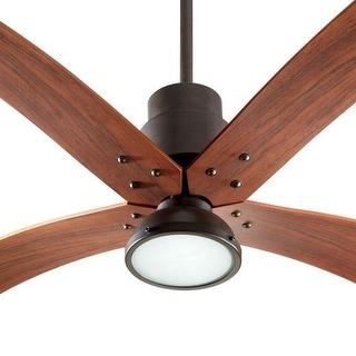 "Quorum International 98604 Flex 60"" Sweep 4 Blade Indoor Ceiling Fan with Light Kit"