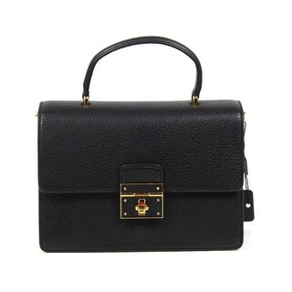 "Dolce & Gabbana Black Leather Satchel Bag - Black - 10.5""x5.5""x5"""