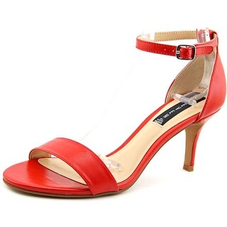Steven Steve Madden Vienna Women Open Toe Leather Red Sandals