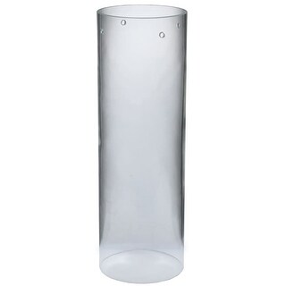 "Meyda Tiffany 115316 4"" W X 12"" H Cylinder Clear Replacement Shade"