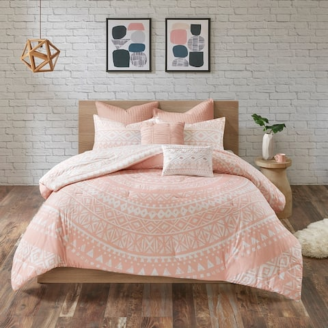 Urban Habitat Cora 7 Piece Cotton Reversible Comforter Set