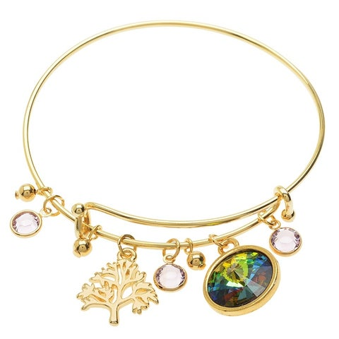 Family Tree Deluxe Charm Bangle Bracelet - Exclusive Beadaholique Jewelry Kit