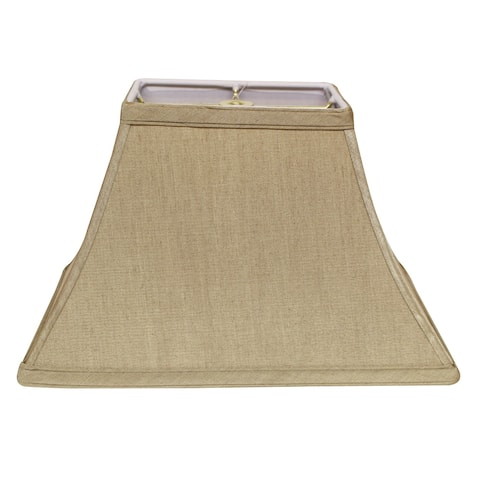 Cloth & Wire Slant Rectangle Bell Hardback Lampshade with Washer Fitter, Tan