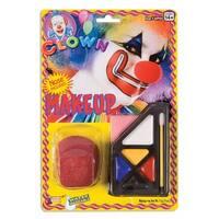 Circus Clown Make Up Costume Kit - Black