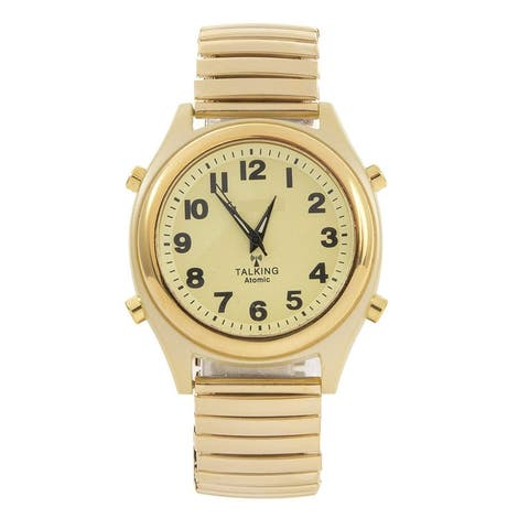 Atomic Talking Watch - Easy to Set! Unisex Watch, Speaks Time and Date. Great for The Blind, Elderly or Visually impaired