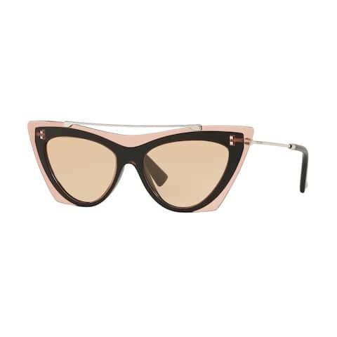 Valentino VA4041 511173 53 Poudre/black Woman Cat Eye Sunglasses
