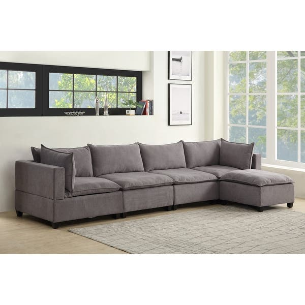 Madison Modular Sectional Sofa Chaise W Down Feather Overstock 32004402
