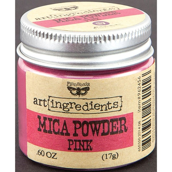 Finnabair Art Ingredients Mica Powder .6oz-Pink