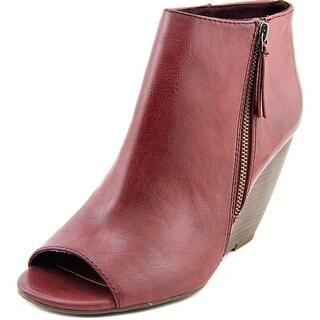 BC Footwear Rebellion II Women Peep-Toe Synthetic Bootie