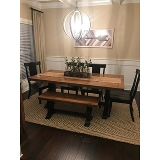 Shop Eleanor Two Tone Rectangular Solid Wood Top Dining