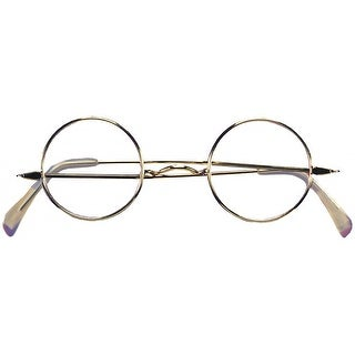 Round Wire Rim Glasses Adult Costume Accessory