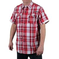 MO7 Men's Plaid Woven Shirt