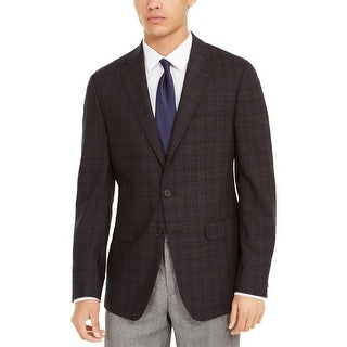 Link to Calvin Klein Mens Sportcoat Plaid Slim Fit - Purple/Navy - 40R Similar Items in Sportcoats & Blazers