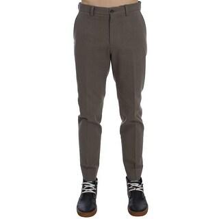 Dolce & Gabbana Beige Cotton Chinos Pants - it50-l