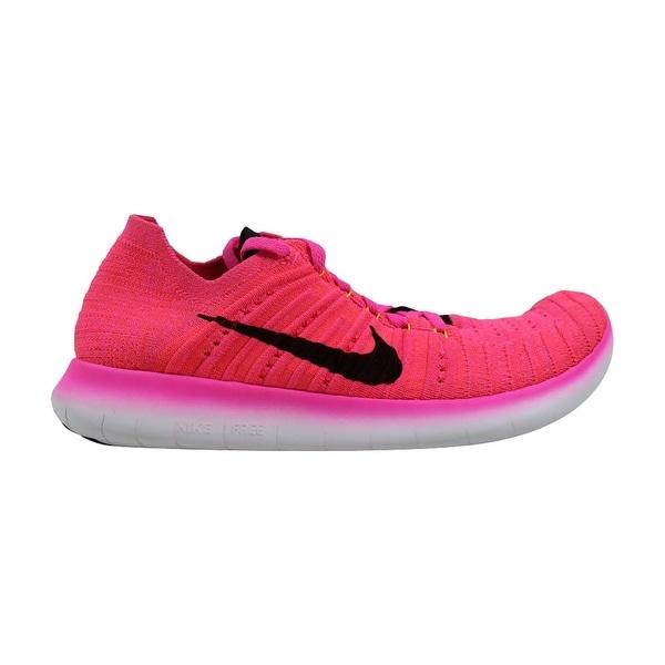 newest collection 49bc5 1f904 Nike Free RN Flyknit Pink Blast Black-Laser Orange-Hyper Punch 831070-