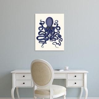 Easy Art Prints Fab Funky's 'Octopus 9, Blue' Premium Canvas Art
