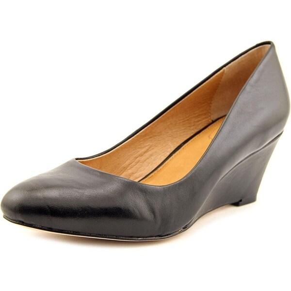 Corso Como Wright Women Open Toe Leather Wedge Heel