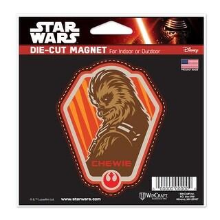 """Star Wars Chewbacca 4.5"""" x 6"""" Die Cut Magnet - multi"""