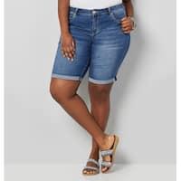 AVENUE Women's  Wanna Betta Butt Rolled Cuff Short