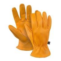 Noble Outfitters Gloves Work Mens Womens Cheyenne Deerskin Tan