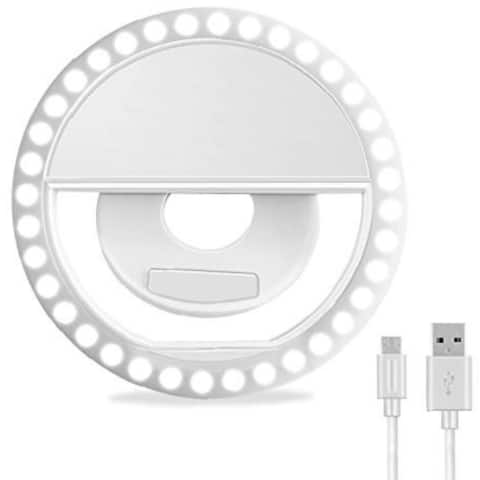 Selfie Ring Light, ELITE Rechargeable Portable Clip-on 40 LED Circle Lights