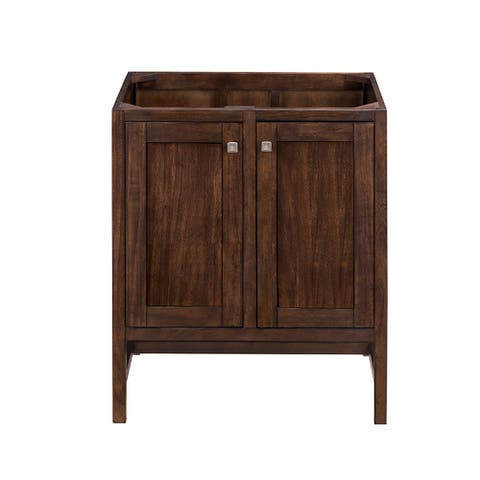 "Addison 30"" Single Vanity Cabinet, Mid Century Acacia"