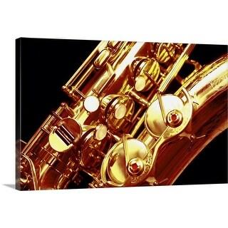 """Saxophone, close-up"" Canvas Wall Art"