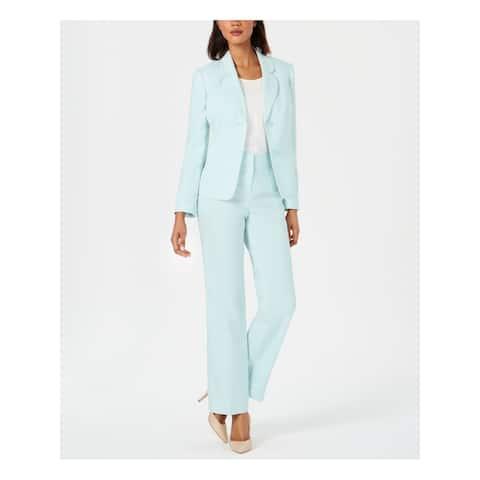 LE SUIT Womens Aqua Blazer Straight leg Formal Pant Suit Size 18