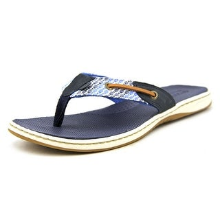 Sperry Top Sider Seafish Open Toe Leather Flip Flop Sandal