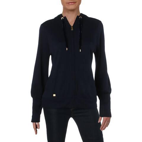 Lauren Ralph Lauren Womens Hoodie Zip-Up Long Sleeve