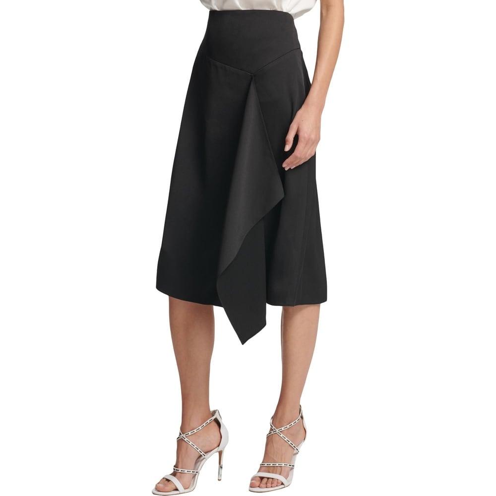 DKNY Womens Ivory Pattern Split Hem Daytime Maxi Skirt 10 BHFO 7581