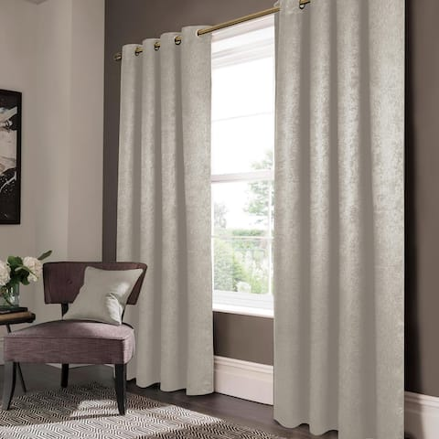 """Lina Matte Embossed Blackout Window Curtain - 52"""" x 90"""""""