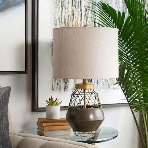 Carbon Loft Welker Caged Concrete 27-inch Table Lamp