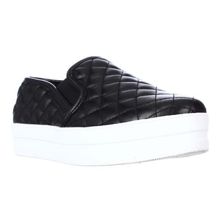 madden girl Playaa Quilted Platform Fashion Sneakers - Black
