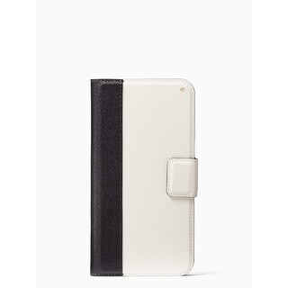 Kate Spade York Colorblock Folio iPhone Xs Max Case, Black/Cement