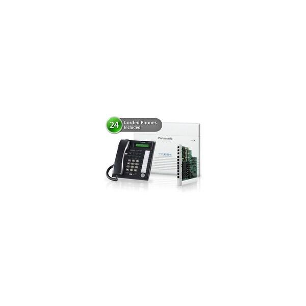 Panasonic KX-TA824-8CO 24 Pack KX-TA824 Phone System + KX-TA82483 Exp. Card + KX-TA82481 Exp Card + KX-T7731 Corded Phones