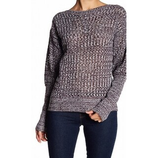 John + Jenn White Womens Large Boat Neck Knitted Sweater
