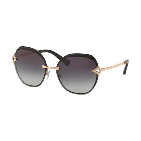 Bvlgari BV6111B 20338G 60 Pink Gold/black Woman Square Sunglasses