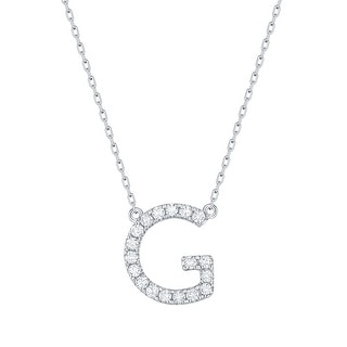 Smiling Rocks 0 26Ct G H VS1 Lab Grown Diamond Alphabet Letter G Necklace