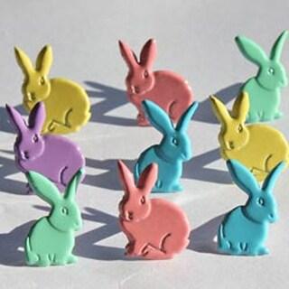 Rabbits - Pastel - Eyelet Outlet Shape Brads 12/Pkg