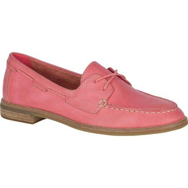 9102c813f41 Sperry Top-Sider Women  x27 s Seaport Boat Shoe Red Full Grain Leather