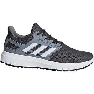 adidas Men's Energy Cloud 2-Tone Knit Mesh Running Shoe Grey Five/FTWR White/Grey