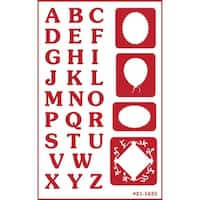 """Over 'N' Over Reusable Stencils 5""""X8""""-Reverse Letters"""