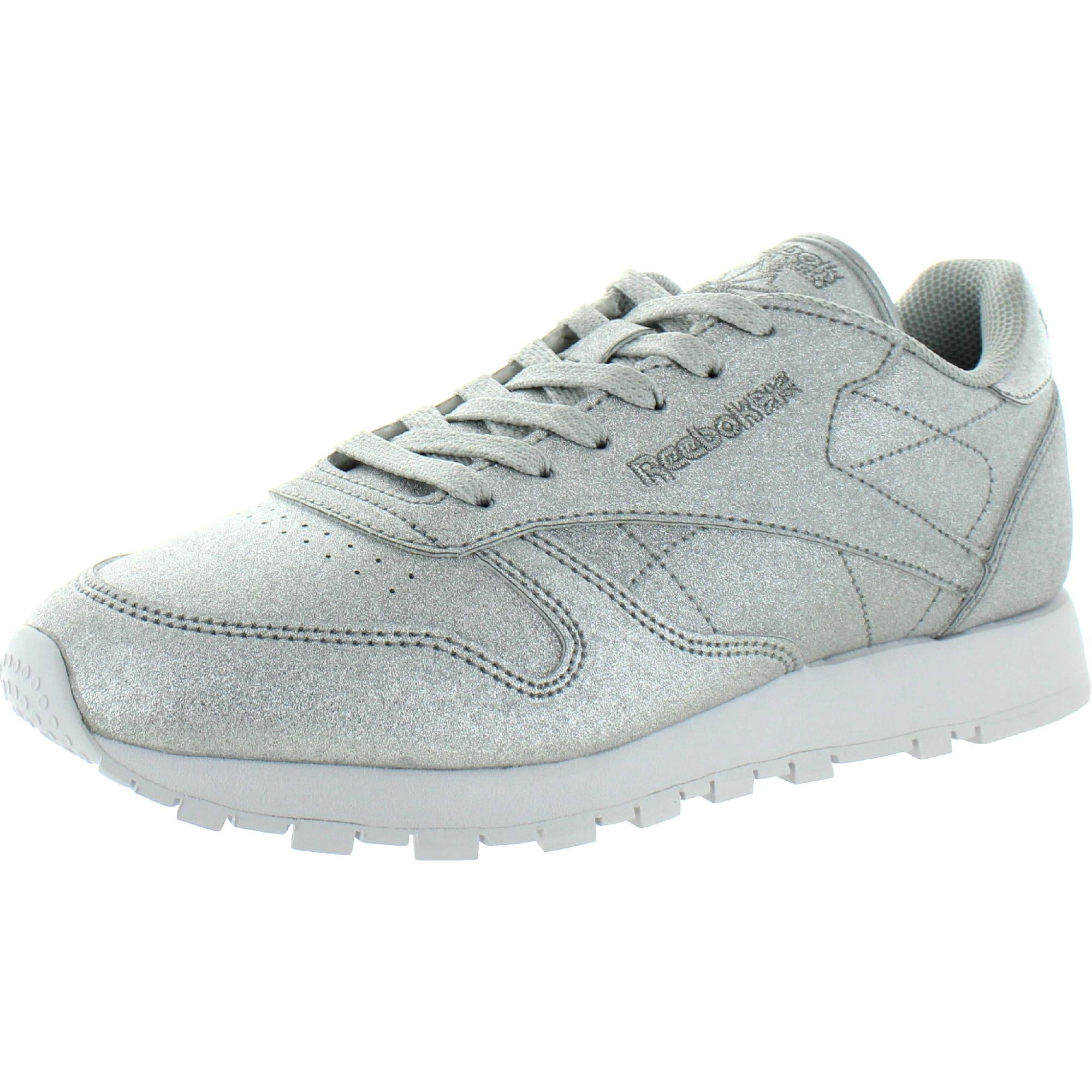 Síntomas Oso bomba  Reebok Womens Classic Sneakers Faux Leather Glitter - Diamond-Silver  Metallic/Gray/White - Overstock - 31735300 - 9 Medium (B,M)