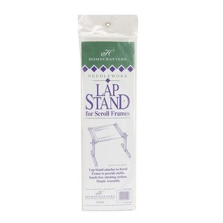 Deluxe Hardwood Scroll Frame Lap Stand-